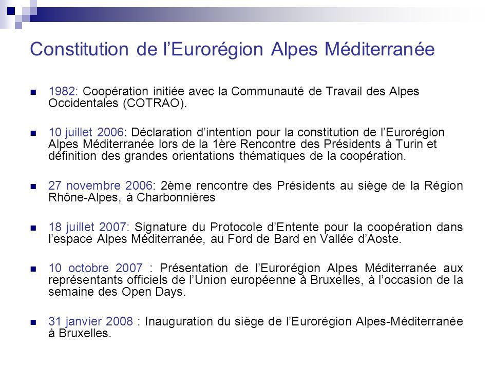 Constitution de l'Eurorégion Alpes Méditerranée