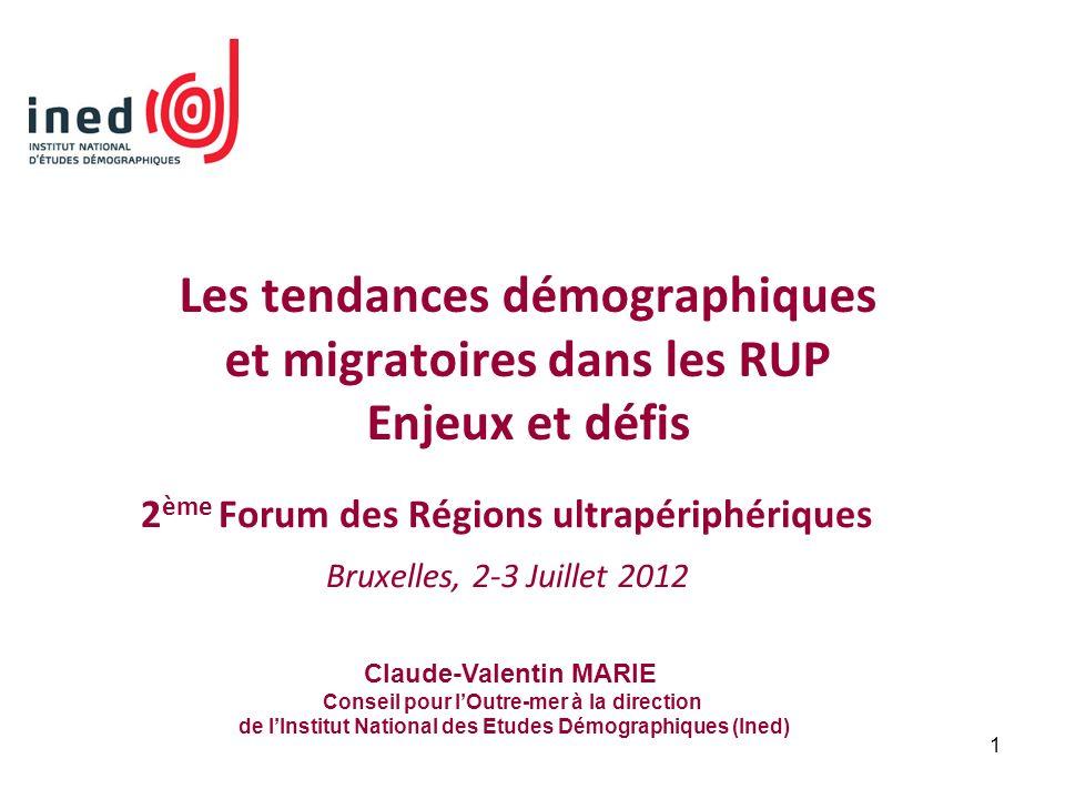 2ème Forum des Régions ultrapériphériques Bruxelles, 2-3 Juillet 2012