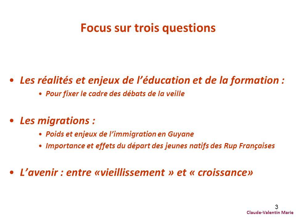 Focus sur trois questions