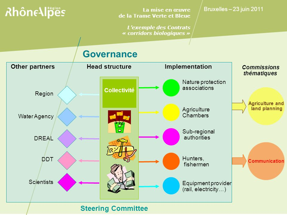 Governance Steering Committee Other partners Head structure