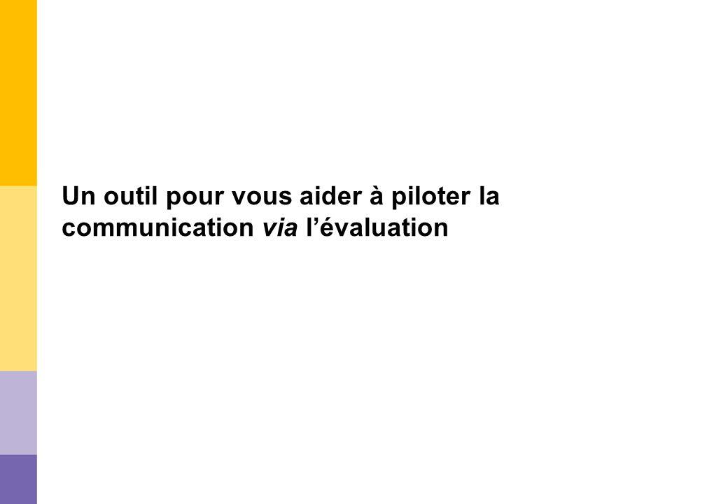 Un outil pour vous aider à piloter la communication via l'évaluation
