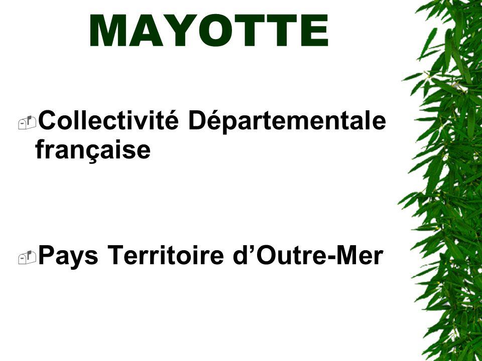 MAYOTTE Collectivité Départementale française
