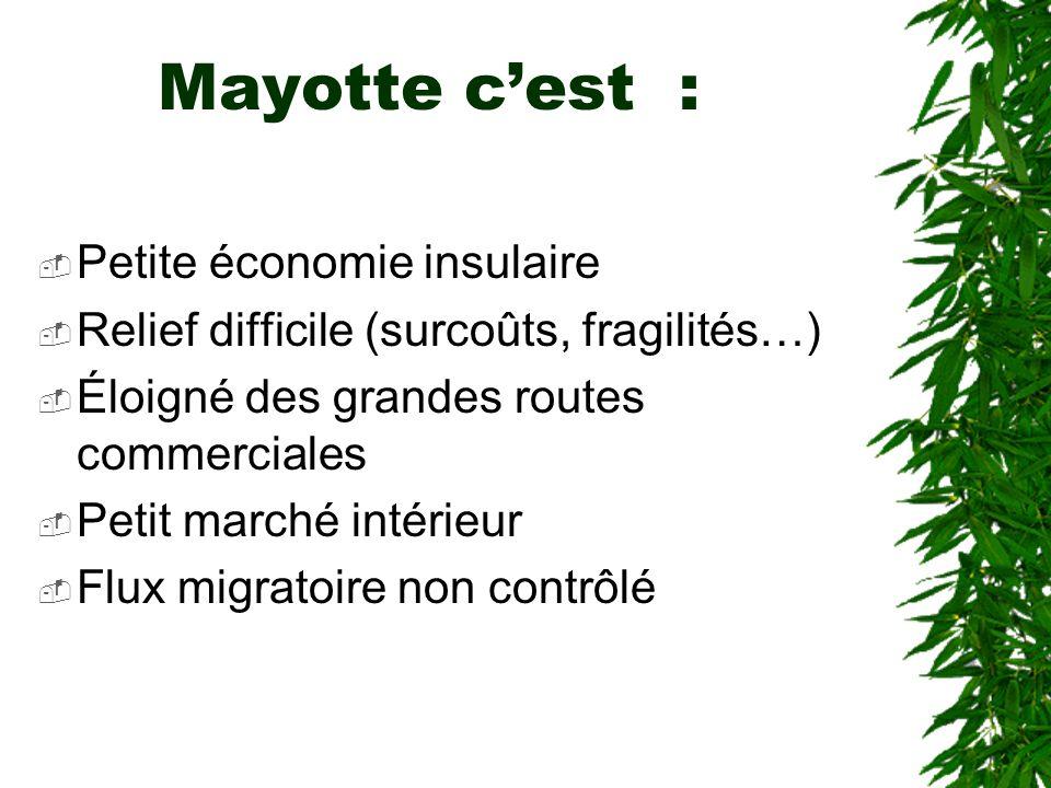 Mayotte c'est : Petite économie insulaire