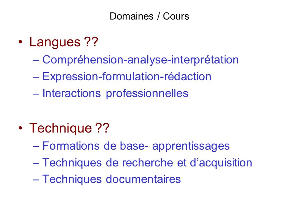 Langues Technique Compréhension-analyse-interprétation