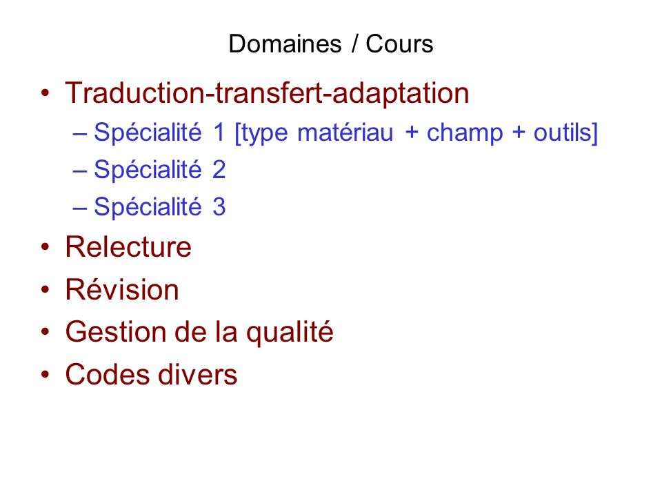 Traduction-transfert-adaptation