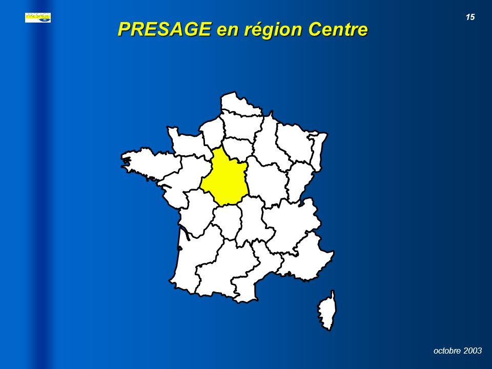PRESAGE en région Centre