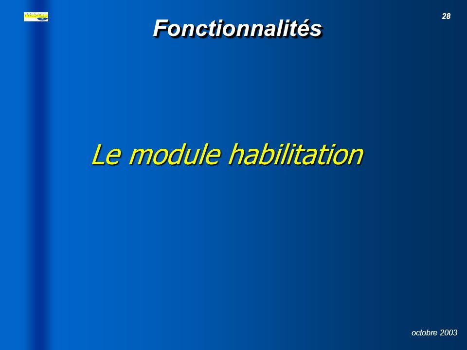Le module habilitation