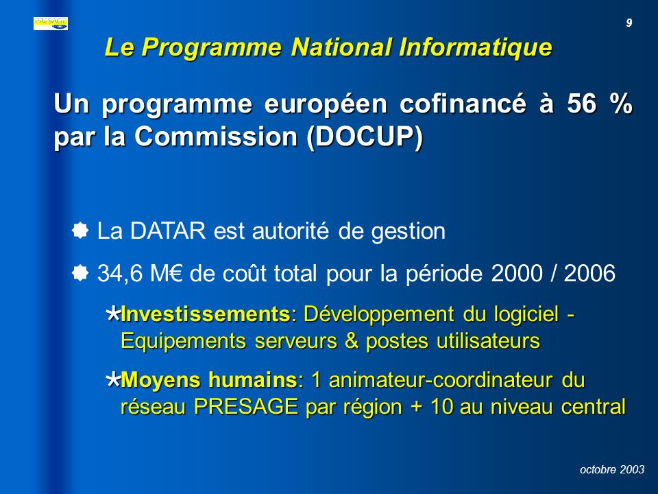 Le Programme National Informatique