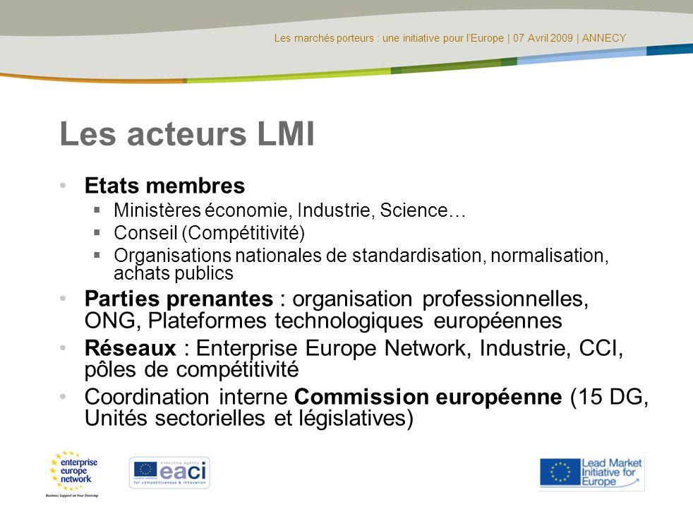 Les acteurs LMI Etats membres