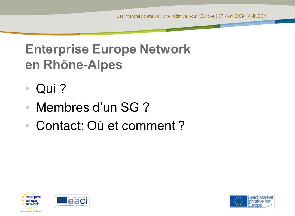 Enterprise Europe Network en Rhône-Alpes