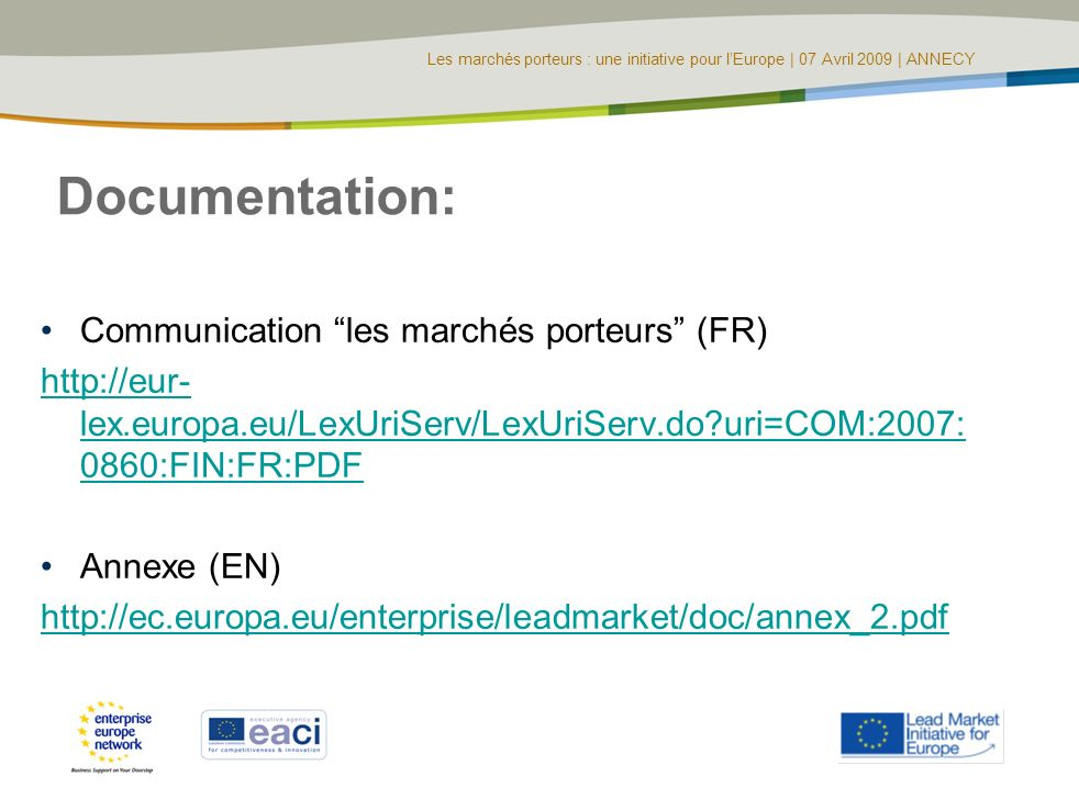 Documentation: Communication les marchés porteurs (FR)