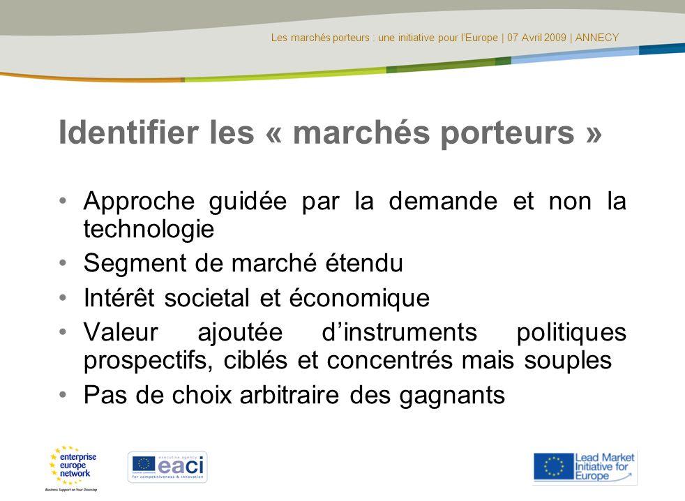 Identifier les « marchés porteurs »