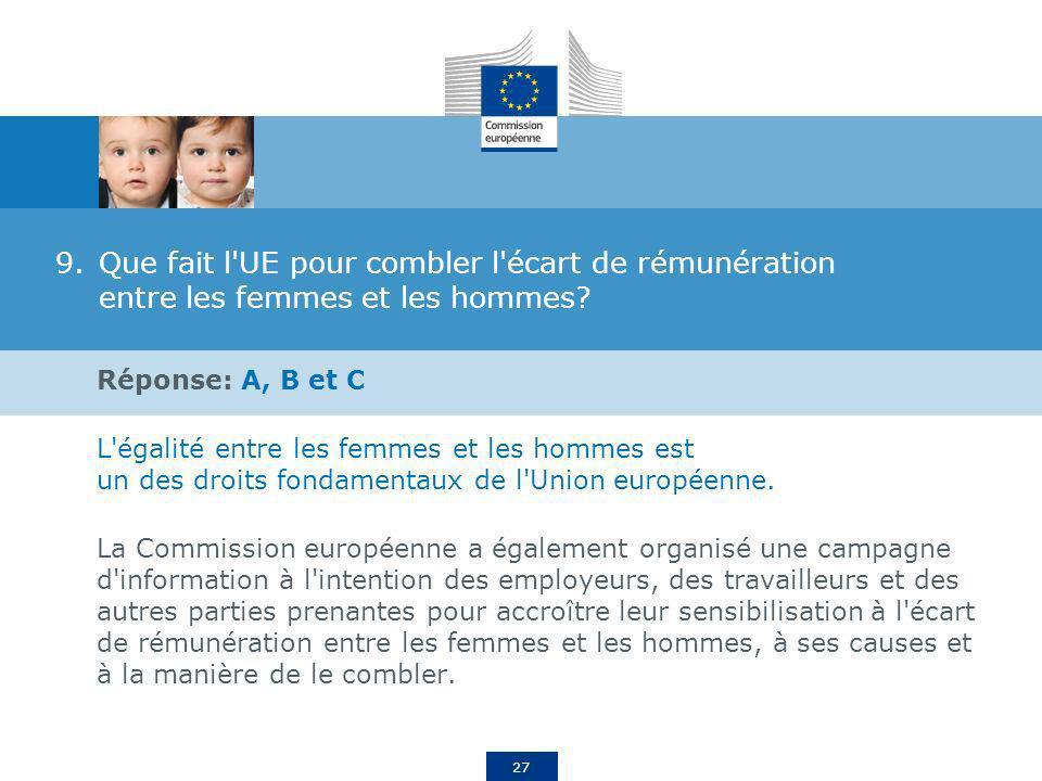 Que fait l UE pour combler l écart de rémunération entre les femmes et les hommes