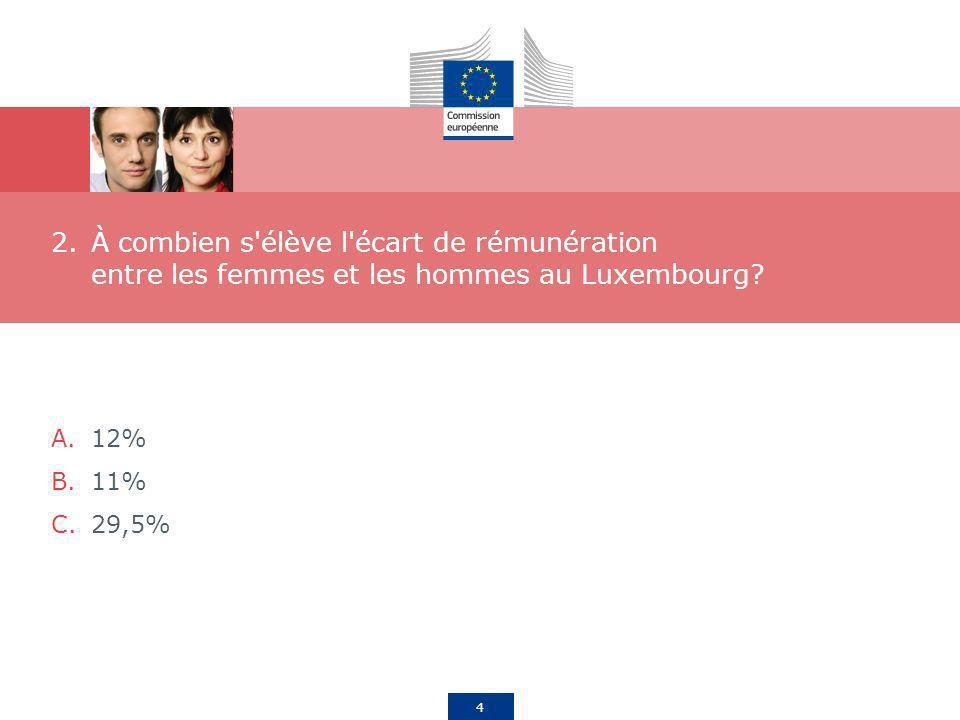 À combien s élève l écart de rémunération entre les femmes et les hommes au Luxembourg