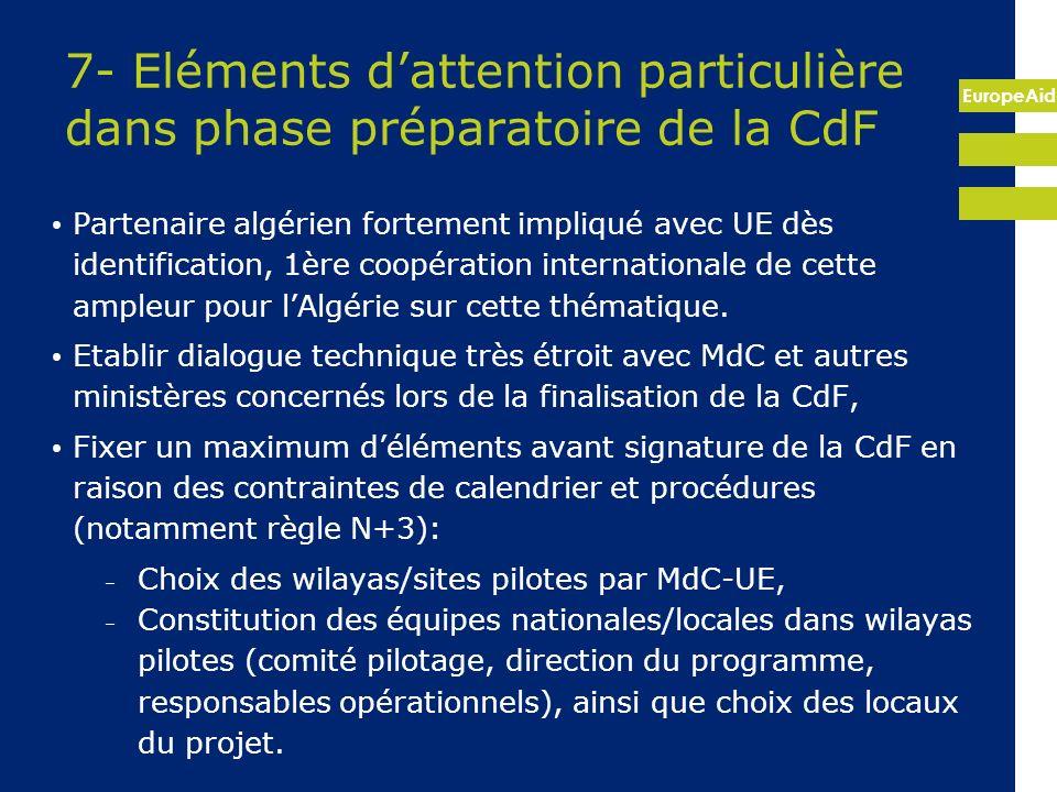 7- Eléments d'attention particulière dans phase préparatoire de la CdF