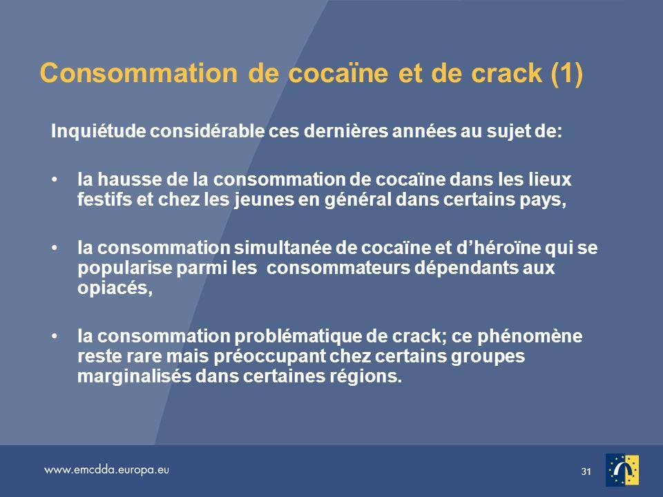 Consommation de cocaïne et de crack (1)
