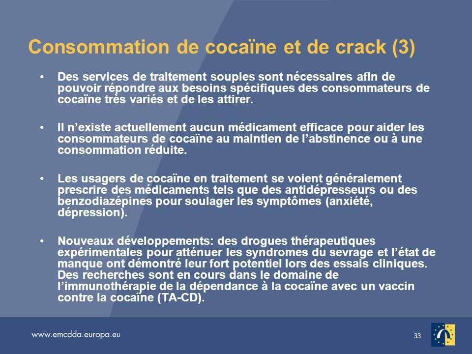 Consommation de cocaïne et de crack (3)