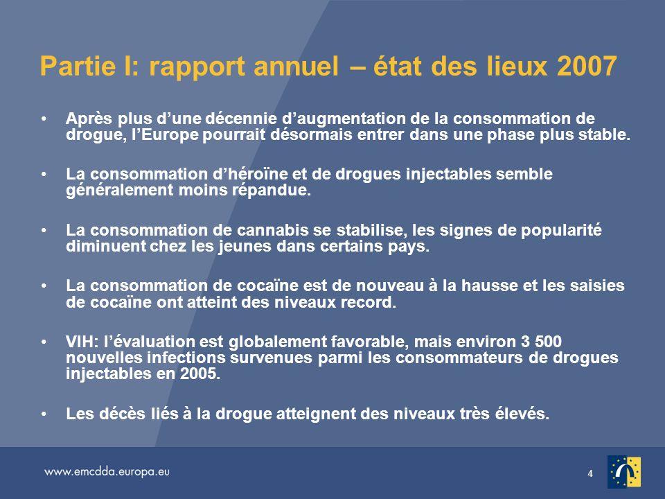 Partie I: rapport annuel – état des lieux 2007