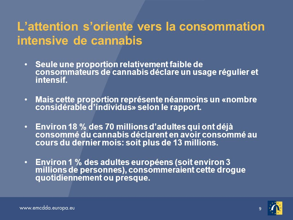 L'attention s'oriente vers la consommation intensive de cannabis