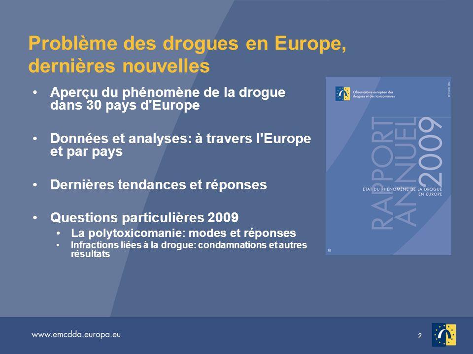 Problème des drogues en Europe, dernières nouvelles