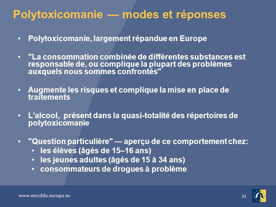 Polytoxicomanie — modes et réponses