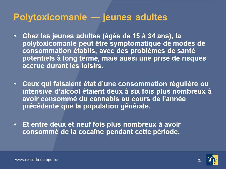 Polytoxicomanie — jeunes adultes
