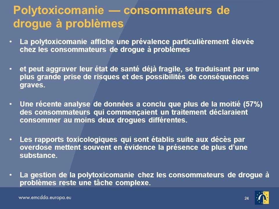 Polytoxicomanie — consommateurs de drogue à problèmes