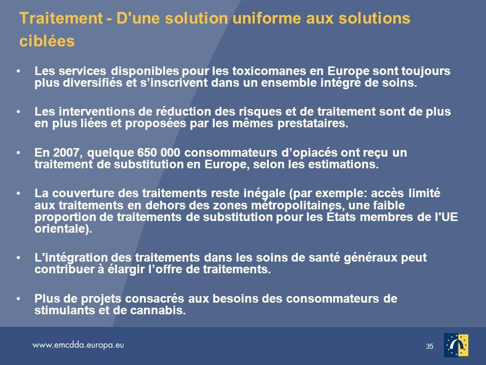 Traitement - D une solution uniforme aux solutions ciblées