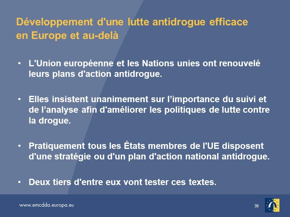 Développement d une lutte antidrogue efficace en Europe et au-delà