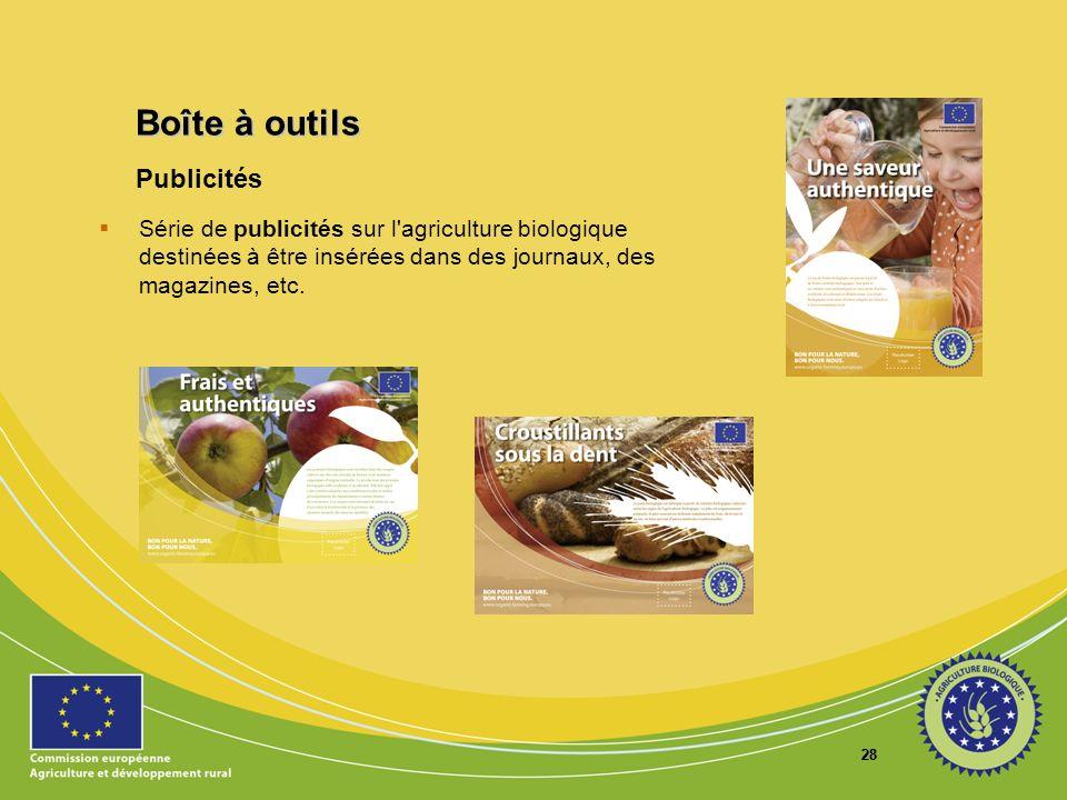 Boîte à outils Publicités