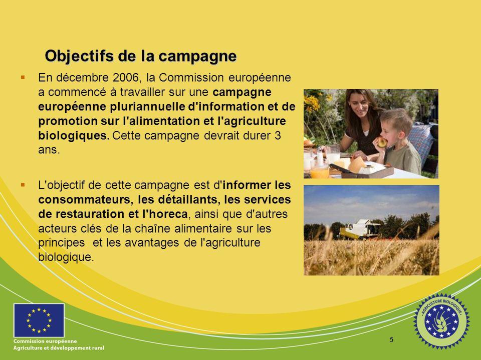 Objectifs de la campagne