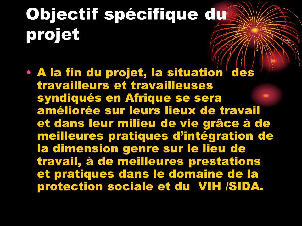 Objectif spécifique du projet