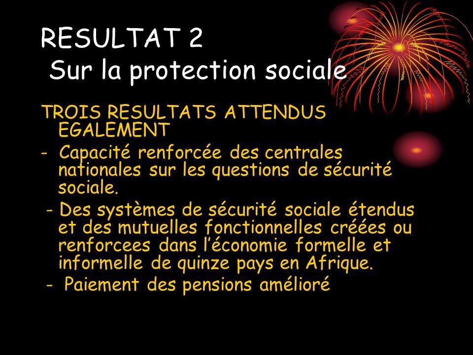 RESULTAT 2 Sur la protection sociale