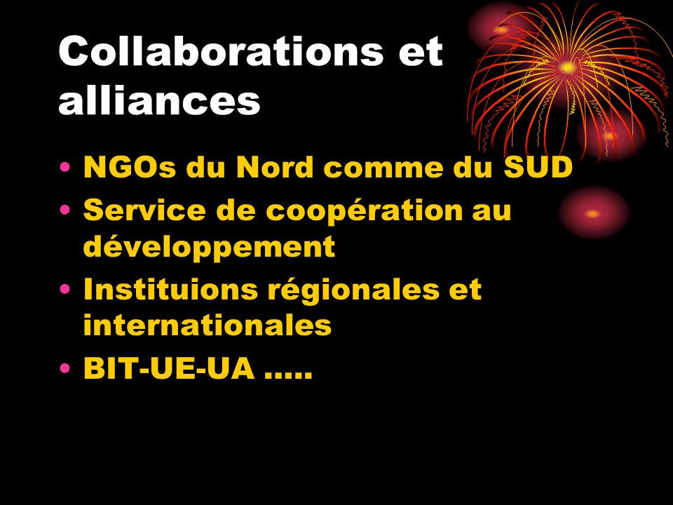 Collaborations et alliances