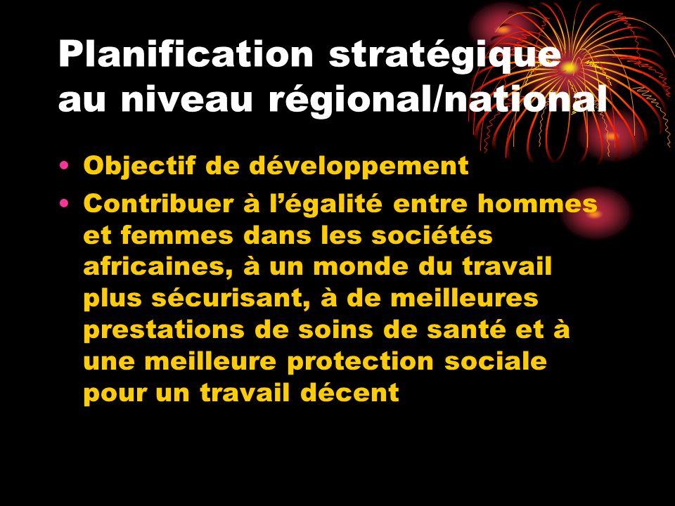 Planification stratégique au niveau régional/national
