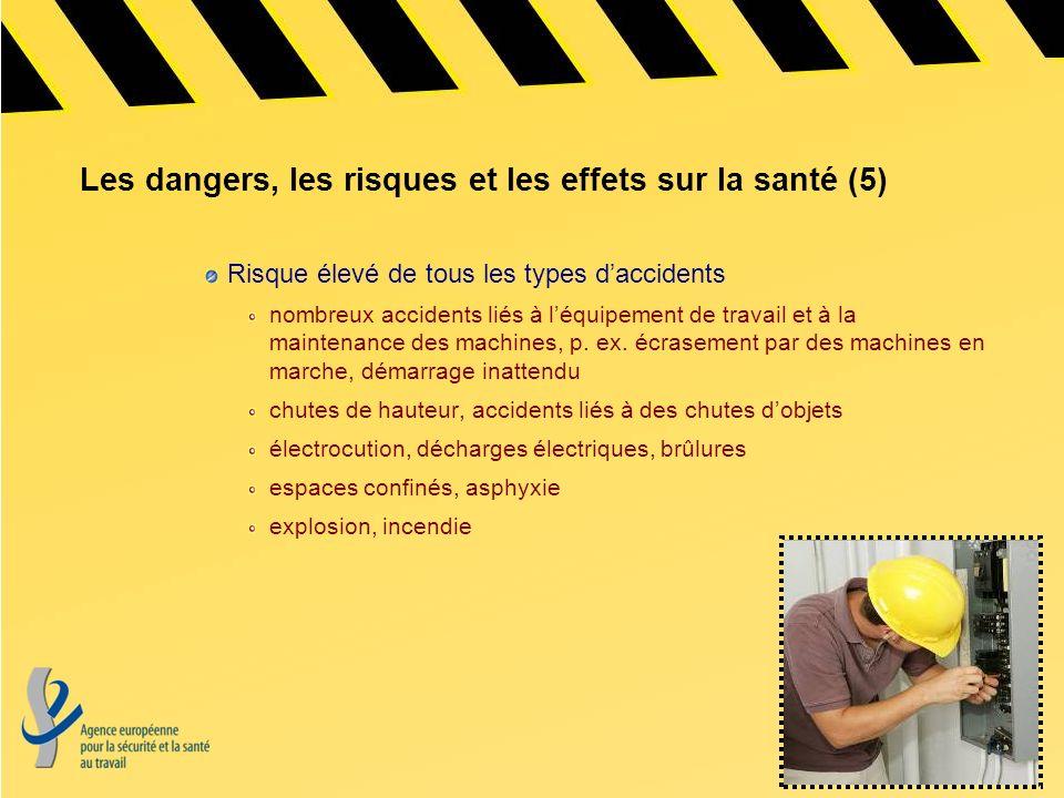 Les dangers, les risques et les effets sur la santé (5)
