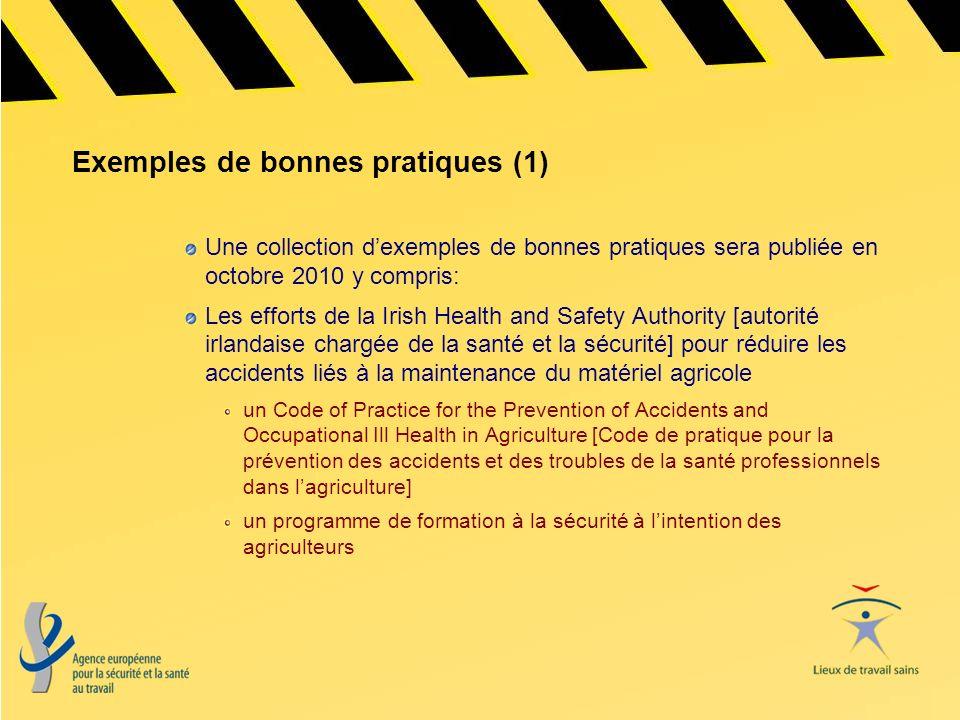 Exemples de bonnes pratiques (1)