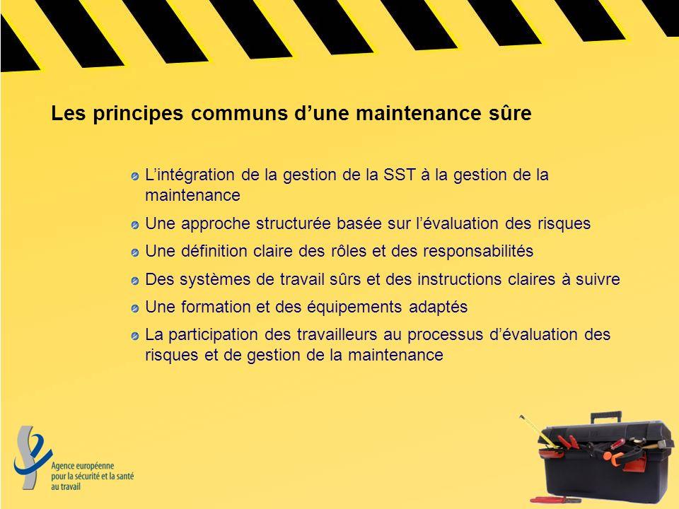 Les principes communs d'une maintenance sûre