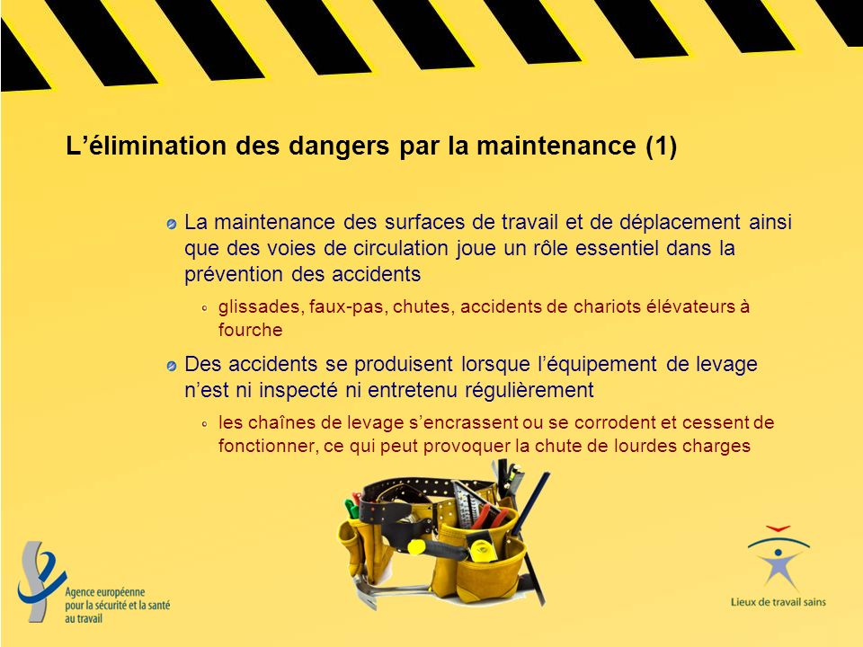 L'élimination des dangers par la maintenance (1)