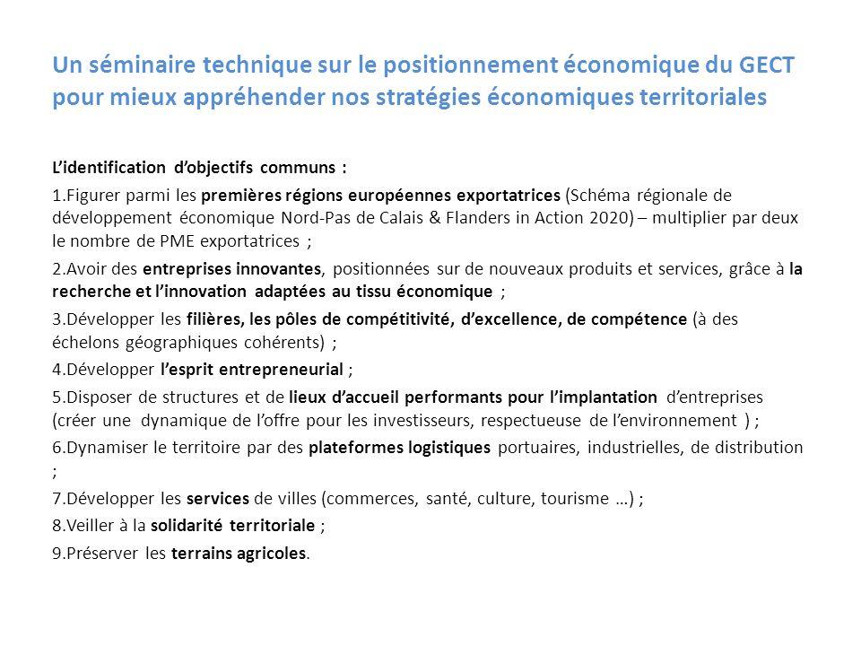 Un séminaire technique sur le positionnement économique du GECT pour mieux appréhender nos stratégies économiques territoriales