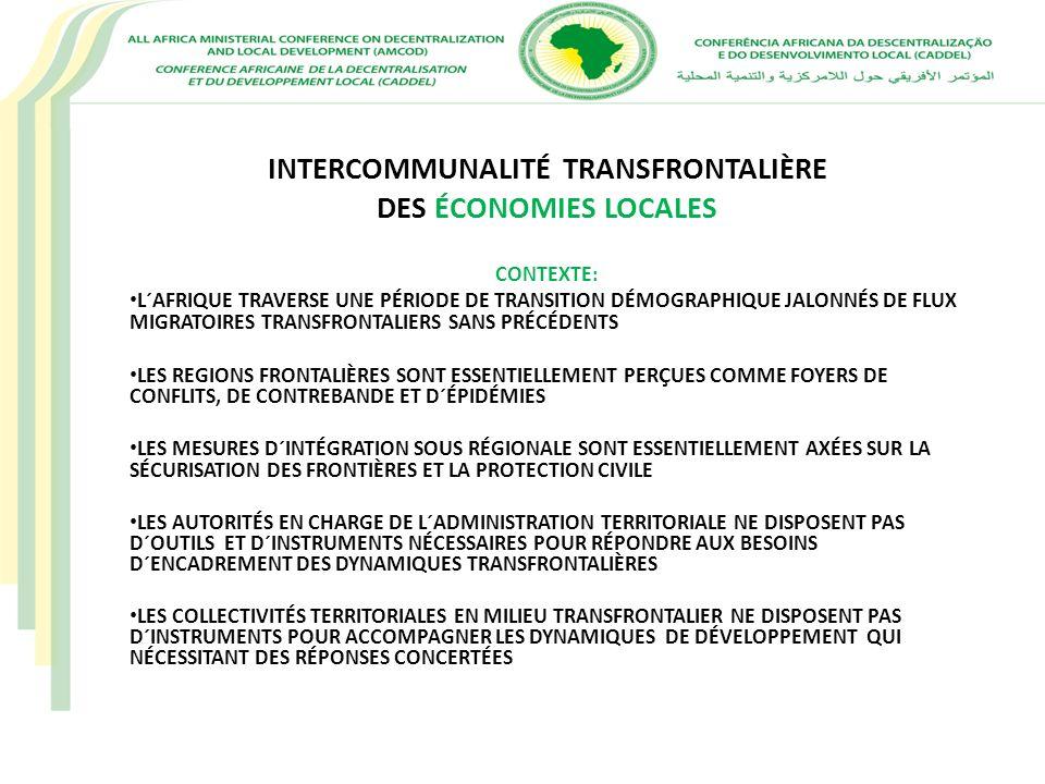 INTERCOMMUNALITÉ TRANSFRONTALIÈRE DES ÉCONOMIES LOCALES