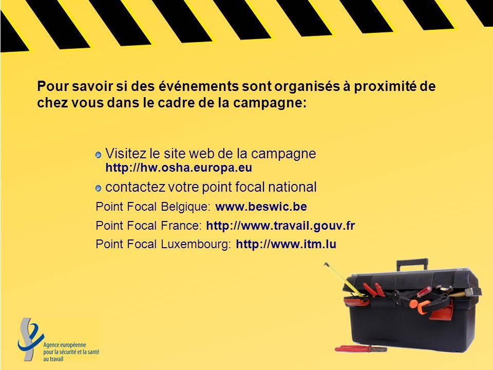 Visitez le site web de la campagne http://hw.osha.europa.eu
