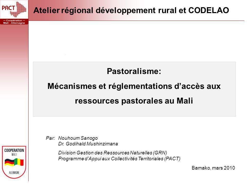 Atelier régional développement rural et CODELAO