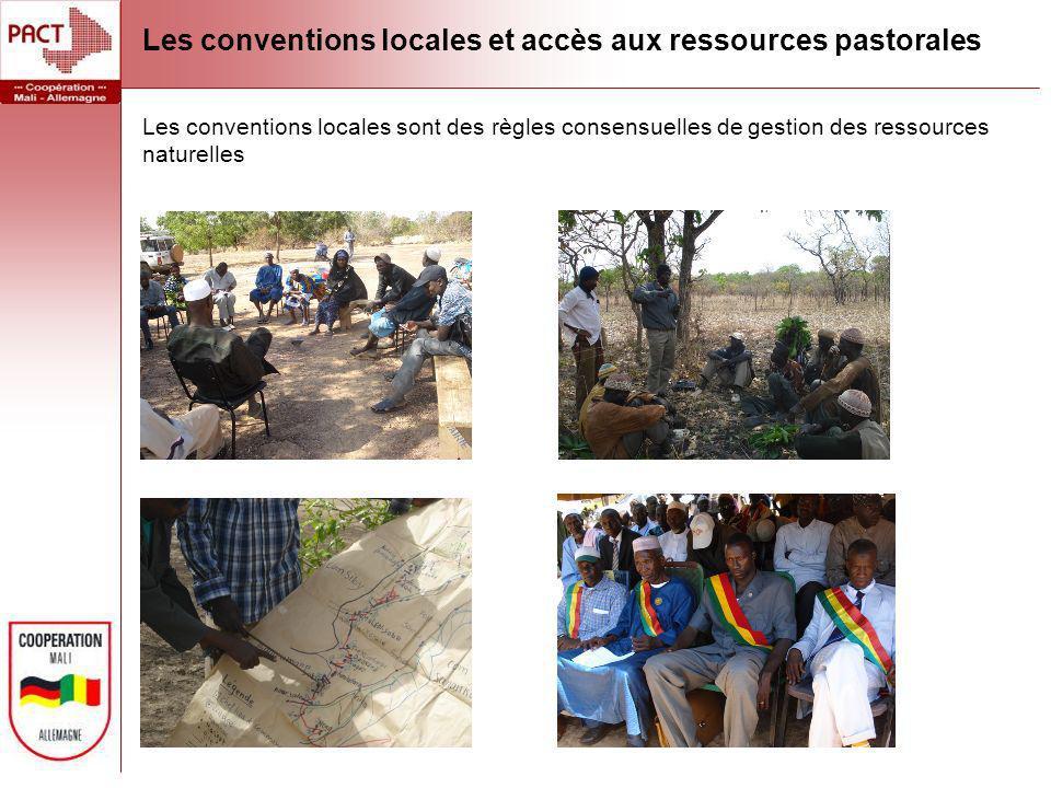 Les conventions locales et accès aux ressources pastorales