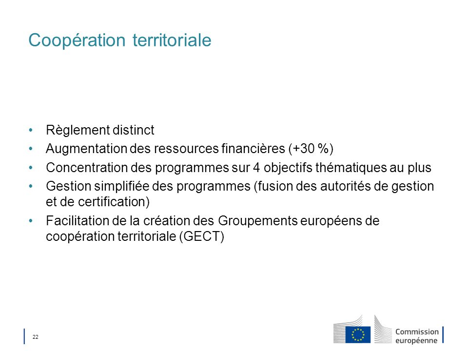 Coopération territoriale