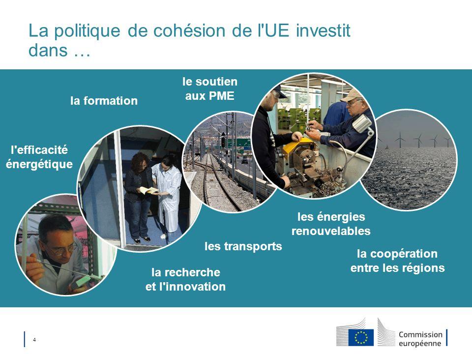 La politique de cohésion de l UE investit dans …