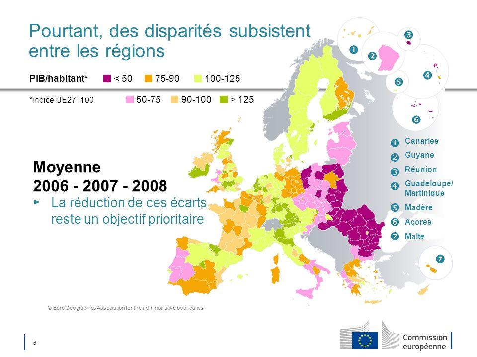 Pourtant, des disparités subsistent entre les régions