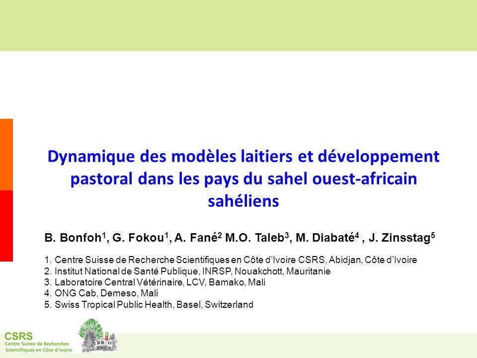 Dynamique des modèles laitiers et développement pastoral dans les pays du sahel ouest-africain sahéliens