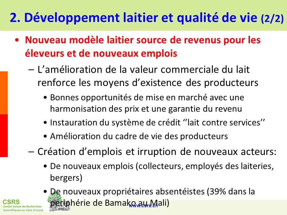2. Développement laitier et qualité de vie (2/2)