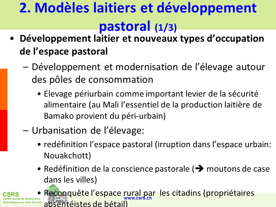 2. Modèles laitiers et développement pastoral (1/3)